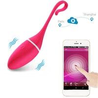 Приложение для смартфона Управление вибрирующие прыгающие яйца USB Перезаряжаемые вибратор вагинальные шарики для вагинального затягивани...