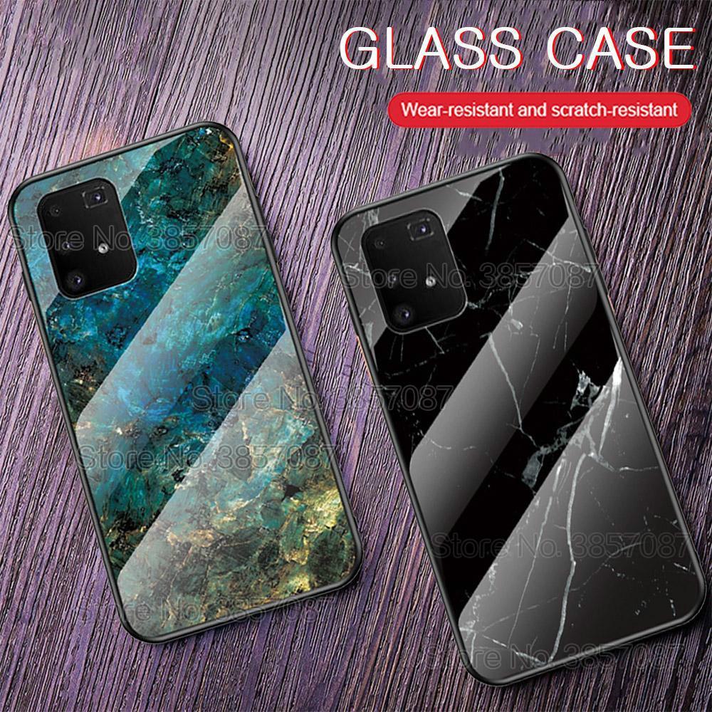 Мраморный чехол из закаленного стекла для телефона Samsung Galaxy M51 M31S M31 M11 S20FE 5G A51 A71, защитный чехол-накладка, противоударный чехол