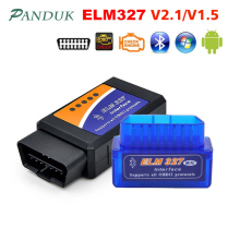 цена на PANDUK Newest ELM327 V1.5 Bluetooth OBD2/obd ii v2.1 Car Diagnostic Car Tools Android Auto Diagnostic Tool Obd2 Scanner