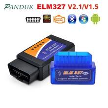 PANDUK più nuovo ELM327 V1.5 Bluetooth OBD2/obd ii v2.1 strumenti diagnostici per Auto strumenti Android strumento diagnostico automatico Obd2 Scanner