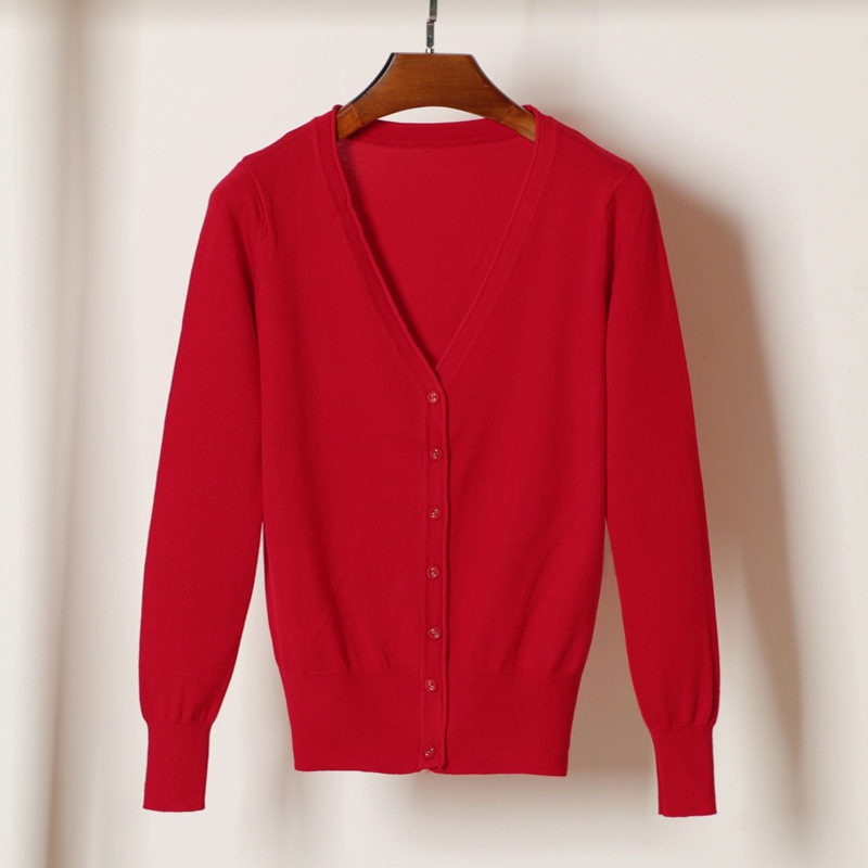 new delivery  Long sleeve knitwear cardigan sweater young girl students spring  autumn short thin coat 4