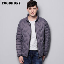 COODRONY Brand Duck Down Jacket Men Fashion Casual Stand Collar Coat Men Soft Warm Winter Jackets Zipper Pocket Clothing 98025
