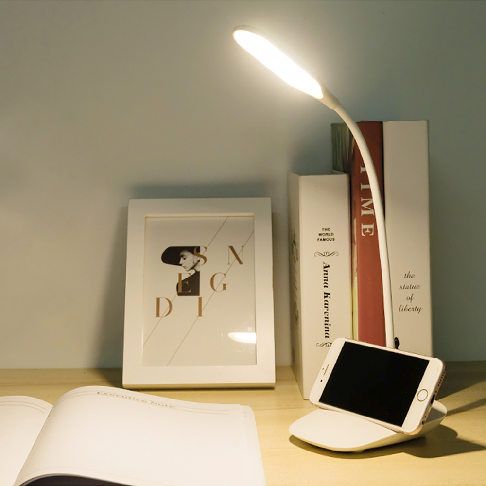 Junejour 高品質調整可能な強度 USB 充電式デスクテーブルランプ読書灯タッチスイッチデスクランプホットデスクランプ