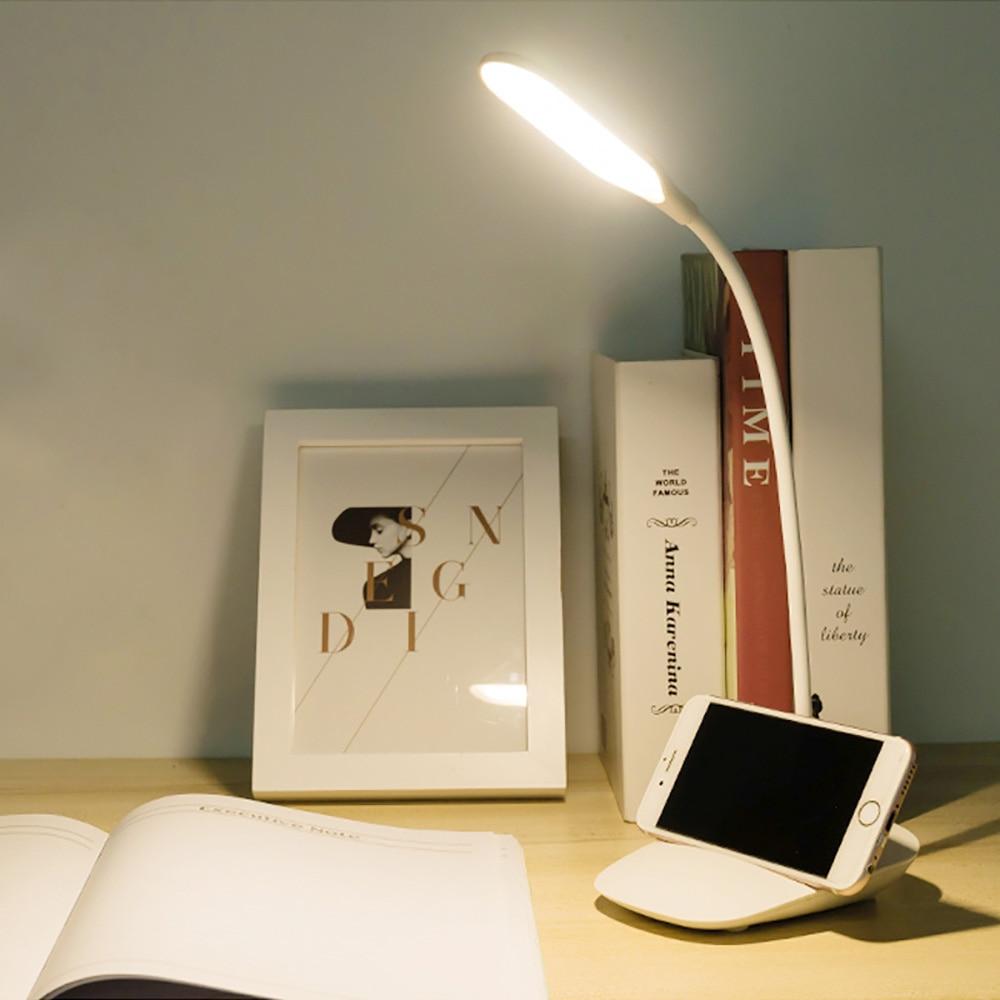 Junejour 고품질 조정 가능한 강렬 usb 재충전 용 책상 테이블 램프 독서 빛 접촉 스위치 책상 램프 뜨거운 책상 램프