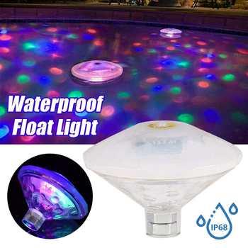 Luz de fiesta ligera flotante subacuática RGB, luz LED sumergible para discoteca, lámpara de Jacuzzi para piscina, bañera de hidromasaje para bebé, pieza de Disco LED