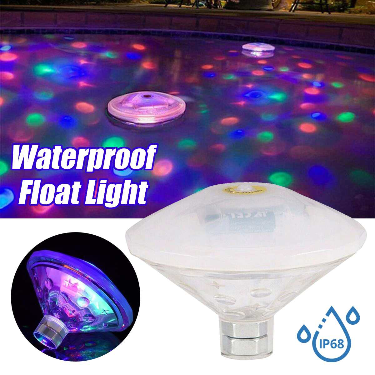RGB Underwater Floating Light PARTY LIGHT Disco LED Submersible Light Show Pool Jacuzzi Lamp for Baby Spa Hot Tub LED Disco part