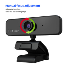 1080P HD Webcam Auto Focusing USB Camera 2 Million pixels Digital Full   Web Cam with Microphone Clip-On PC Camera for Computer komery video camera 3 0 inch screen full hd 1080p 16x smart digital zoom 24 million pixels support language selection
