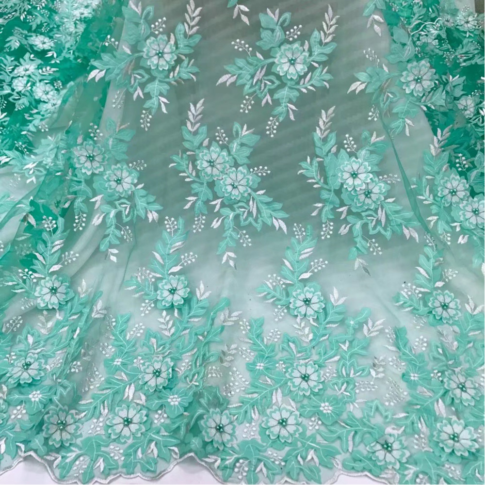 African Lace Fabric 2019 High Quality French Fabric 4 Colors Embroidery Nigerian Lace Fabrics Women Wedding Dress Lace Fabrics