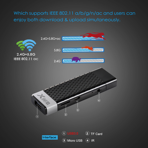 Image 4 - אנדרואיד 9.0 טלוויזיה תיבת X96S טלוויזיה מקל חכם מיני מחשב DDR3 4GB RAM Amlogic S905Y2 2.4G/5G WiFi Bluetooth 4.2 4K אנדרואיד הטלוויזיה Media Player