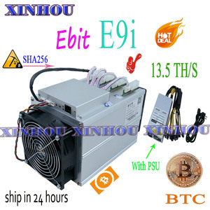 Image 1 - Used bitcoin miner Ebit E9i 13.5T SHA256 Asic miner With PSU BTC BCH mining Better than E10 antminer S9 S17 S17e T17 M21S M3 T3