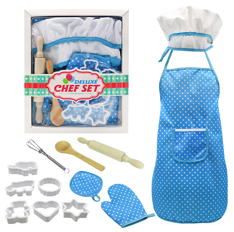 Pudcoco Brand 11Pcs Chef Set Role Play Children Kitchen Cooking Baking Girls Toys Costume Cooker Play Kit Friends Game