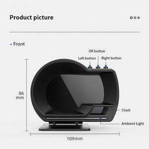 Image 5 - Nieuwste OBD2 + Gps Smart Auto Hud Head Up Display Auto Display Gauge Digitale Kilometerteller Security Alarm Water & Olie temp Rpm