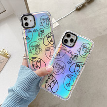 Abstract Line Art face painting Phone Case For ipho