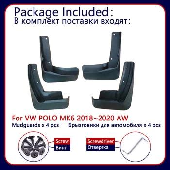 Для Volkswagen VW Polo MK6 AW 2018 2019 2020 Автомобильные Брызговики передние задние брызговики Брызговики автомобильные аксессуары