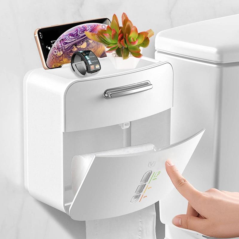 Home Storage Organization Double Layer Storage Box Kitchen Drawer Organizer Bathroom Kitchen Plastic Toilet Paper Tissue Box