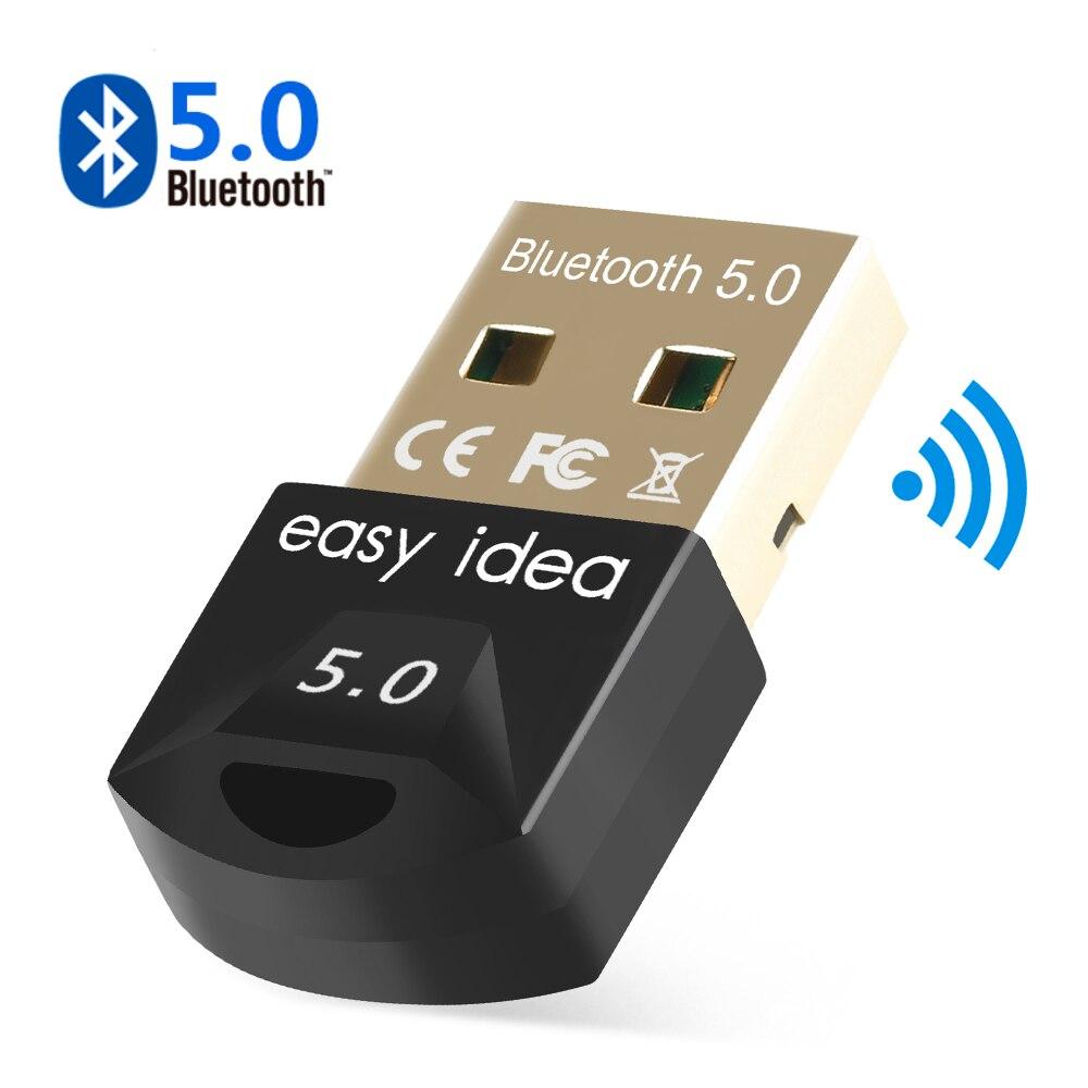 USB بلوتوث 5.0 بلوتوث 5.0 محول استقبال لاسلكية Bluethooth دونغل 4.0 الموسيقى البسيطة Bluthooth الارسال ل جهاز كمبيوتر شخصي