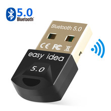 Adaptador receptor USB Bluetooth 5,0, Bluetooth 5,0, Dongle inalámbrico con Bluetooth 4,0, Mini transmisor de música con Bluetooth para PC y ordenador
