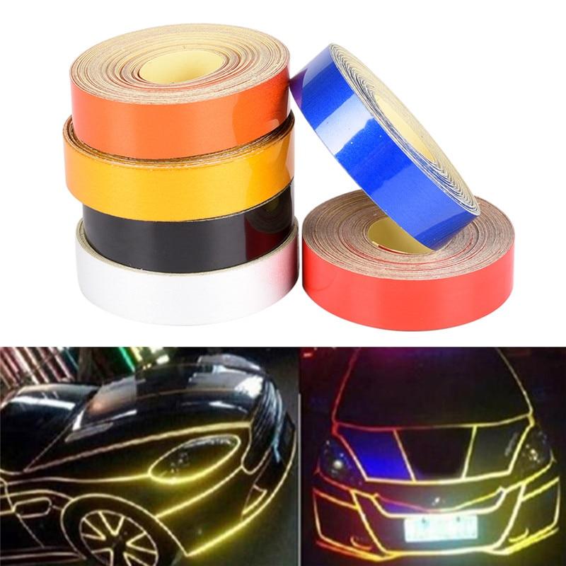 1cmx5m Car Truck Reflective Roll Tape Film Safety Warning Ornament Sticker Decor