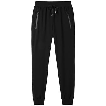 2019 wiosenne jesienne spodnie męskie spodnie nowe biegaczy bawełniane spodnie dresowe Slim odchudzanie dzianiny spodnie dresowe 6XL 8XL spodnie dresowe dla biegacza tanie i dobre opinie SHERAN Proste Pełna długość Mieszkanie REGULAR COTTON średniej wielkości Sukno Z KIESZENIAMI Na co dzień Troczek
