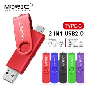 Moric USB flash drive Type-C 2.0 256GB 128GB 64 GB 32 GB 16 GB 8GB external storage double Application Micro USB StickBest Sale