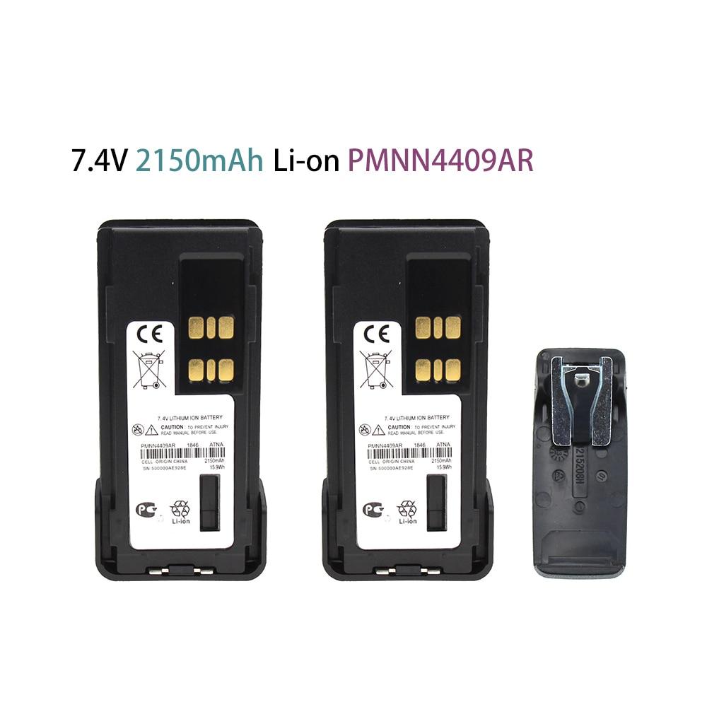 2X 2150mAh PMNN4409 Battery Replaces For Motorola TRBO APX4000 XPR3500 XPR7350eXPR7380e XPR7550e XPR7580e