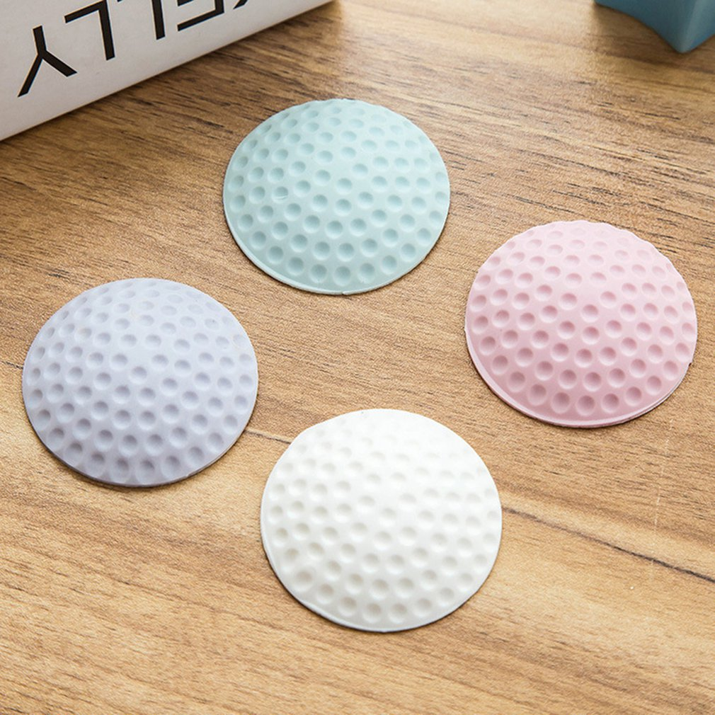 Protective Wall Thickening Mute Door Stick Golf Styling Rubber Fender Handle Lock Pad Home Wall Sticker With Noise Reduction
