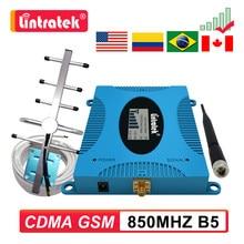 Gsm cdma 2g 3g 850 mhz repetidor de sinal b5 850 mhz 4g celular impulsionador band5 antena + 10m cabo lcd amplificador kit 7