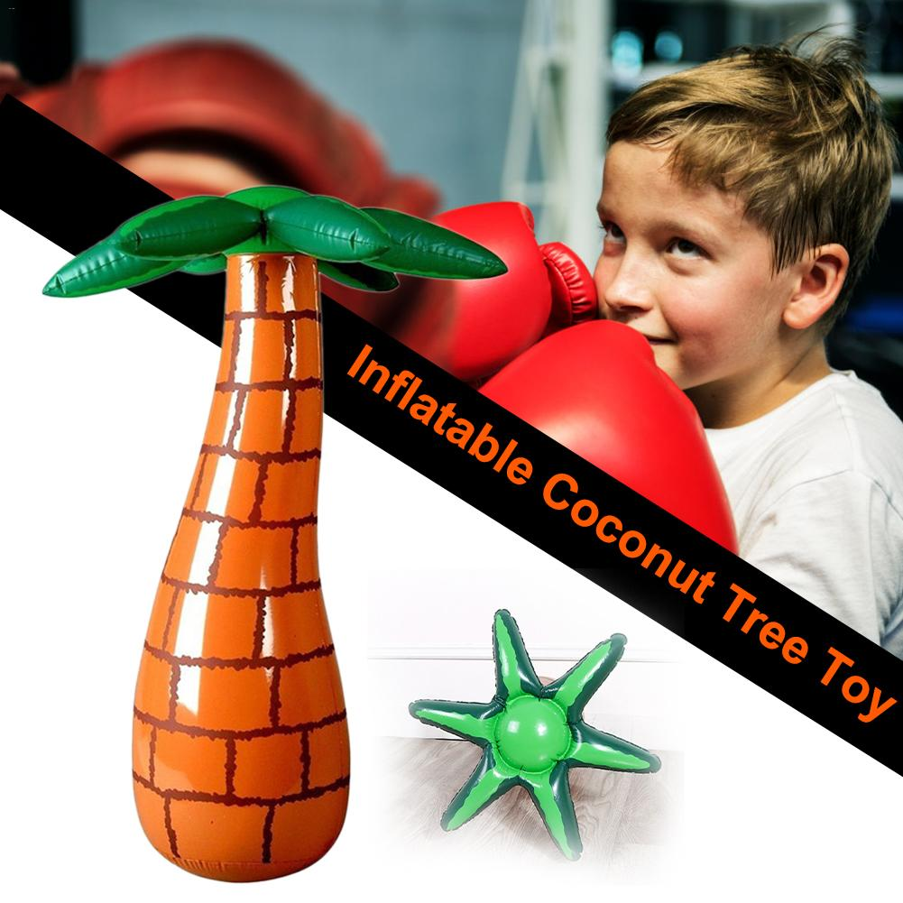 Tree-shape Inflatable Stress Punching Tower Bag Boxing Standing Water Base Training Pressure Relief Bounce Back Sandbag For Kids