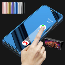 For Oppo Realme 5 Pro Flip Case Realme Q Leather Mirror Full Cover Cas