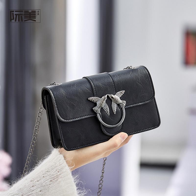 2020 New Korean Fashionable Wild Swallow Bag Shoulder Messenger Chain Bag Small Square Bag