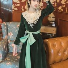 Новая мода Женская одежда винтажное платье женское зимнее платье