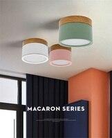 Macaroon, скандинавские потолочные светильники из железного дерева, современная светодиодная лампа для гостиной, спальни, светильник для крыль...