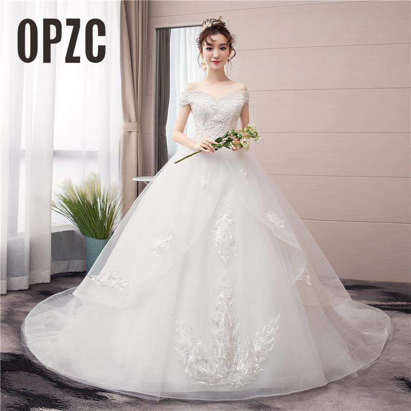 Женское свадебное платье с бусинами, роскошное кружевное платье с открытыми плечами для невесты, 7