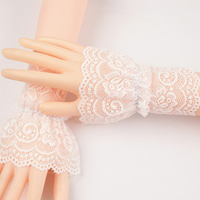 Gloves Sleeve Arm-Cover Sun-Protection Cuff Lace Silk Female