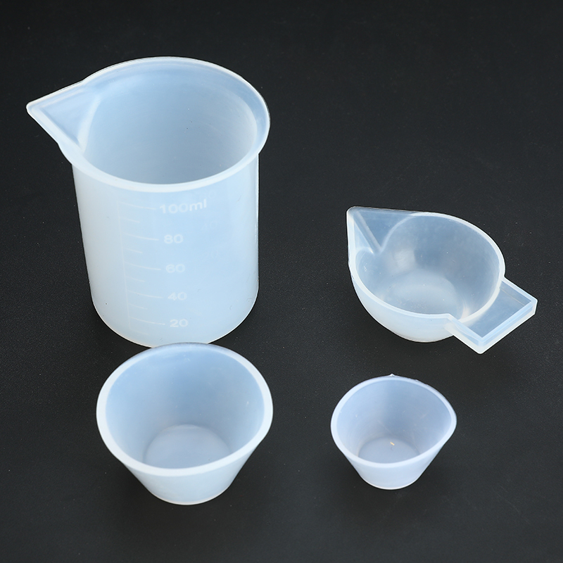 4pcs Mixing Cups Silicone Mold Epoxy Resin Tools Measuring Cup DIY Handmade Jewelry Making Tool Kits