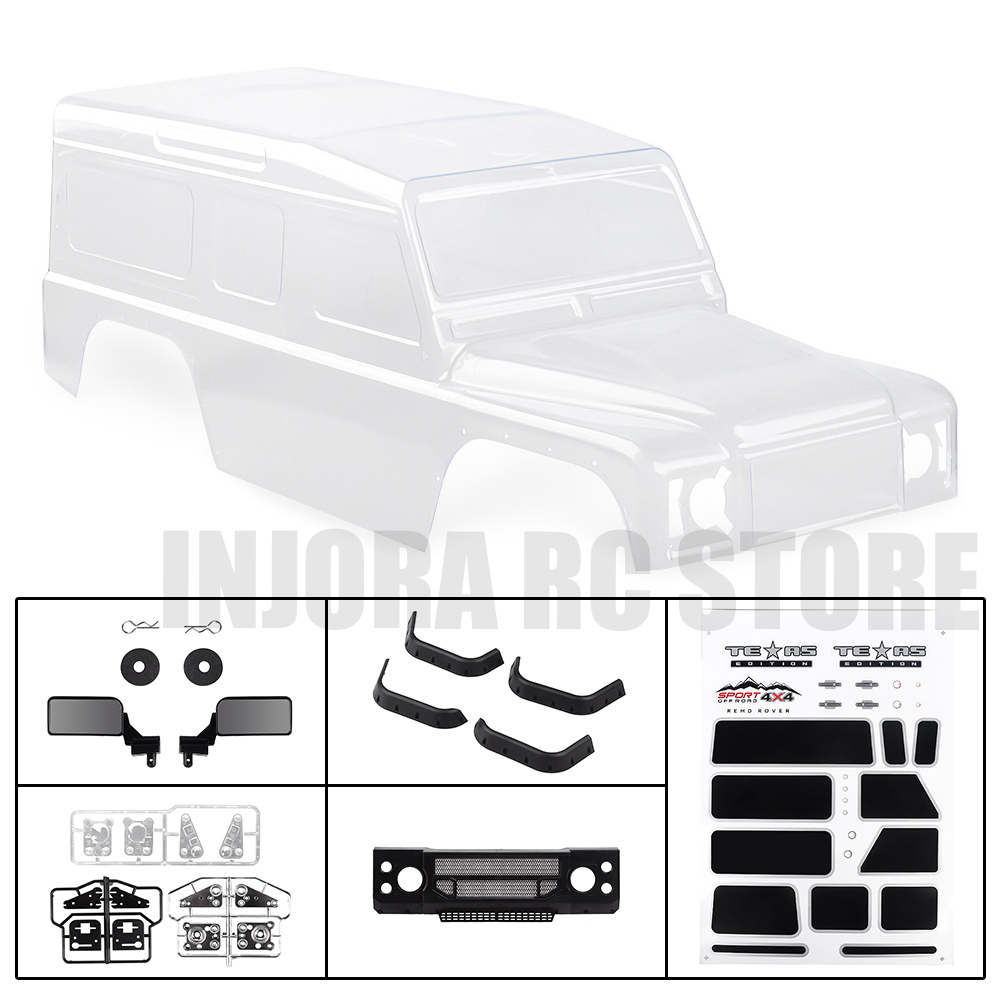 1PCS PVC Plastic Pickup D110 313mm Wheelbase Body Shell For 1/10 RC Crawler Axial SCX10 90046 TRAXXAS TRX-4