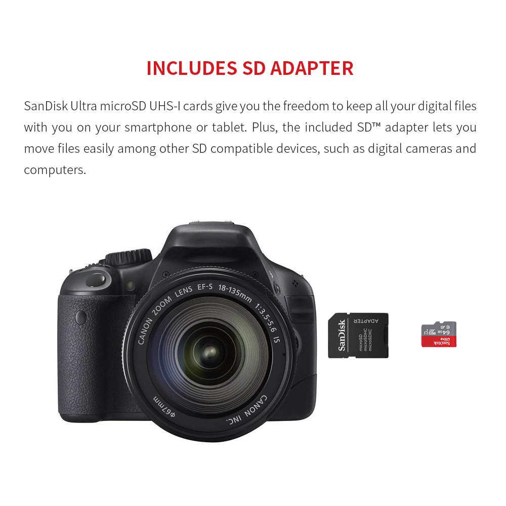 سانديسك مايكرو SD بطاقة 256G 200GB 128GB 64GB 100 برميل/الثانية الذاكرة بطاقة SD/TF فلاش بطاقة Class10 32GB 16GB مايكرو للقرص/الهاتف الذكي