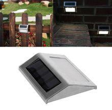купить Solar Power LEDs Outdoor waterproof Garden Pathway Stairs Lamp Light Energy Saving LED Solar wall Lamp Warm White Cold white дешево