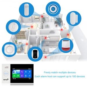 Image 4 - Awaywar Tuya WIFI GSM home Security smart Alarm System Burglar kit  touch screen compatible with Tuya IP Camrea