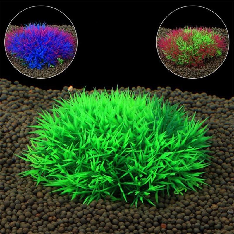 Plastic 1pcs/ Artificial Aqua Turf Ornaments Simulation Plant Aquarium Decorative Landscape Accessories Aquatic Plants