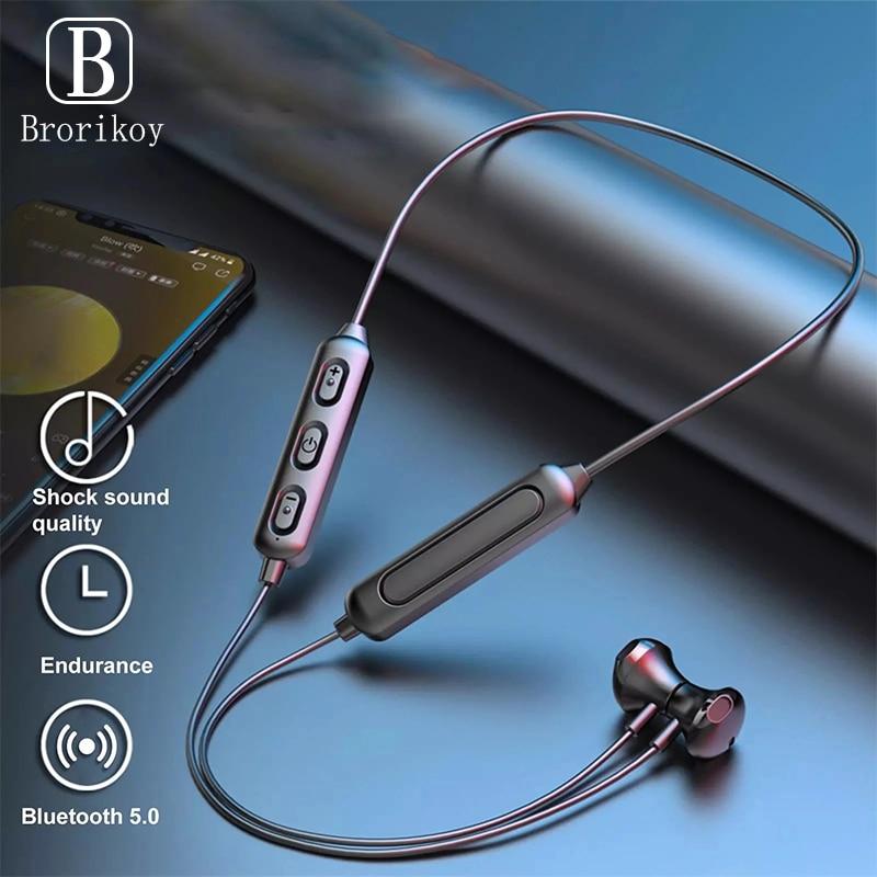 Беспроводной Bluetooth 5,0 спортивные наушники с шейным стерео гарнитура Хэндс фри, мобильный телефон наушники магнитные наушники для Xiaomi 1