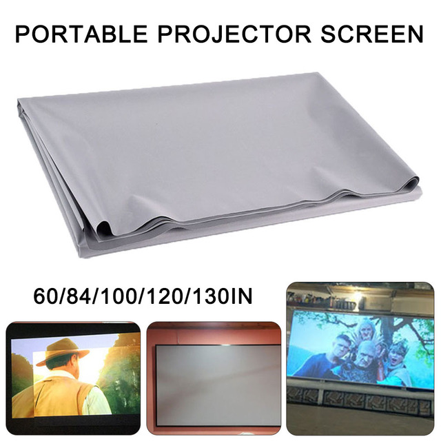 best promo 86d2 60 84 100 120 130inches projector simple curtain anti light screen home outdoor office portable 3d hd projector screen cicig co 60 84 100 120 130inches projector simple curtain anti light screen home outdoor office portable 3d hd projector screen