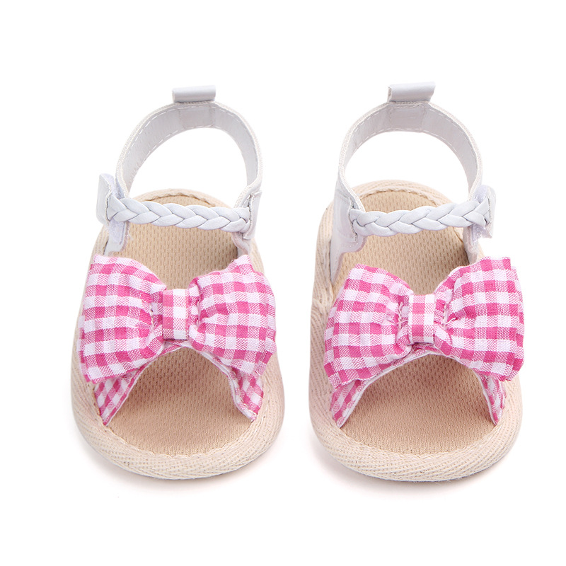 0-18M Baby Girl Shoes Soft Sole Antiskid Baby Summer Newborn Pre Walker Shoes Toddler Baby Shoes For Girls F101