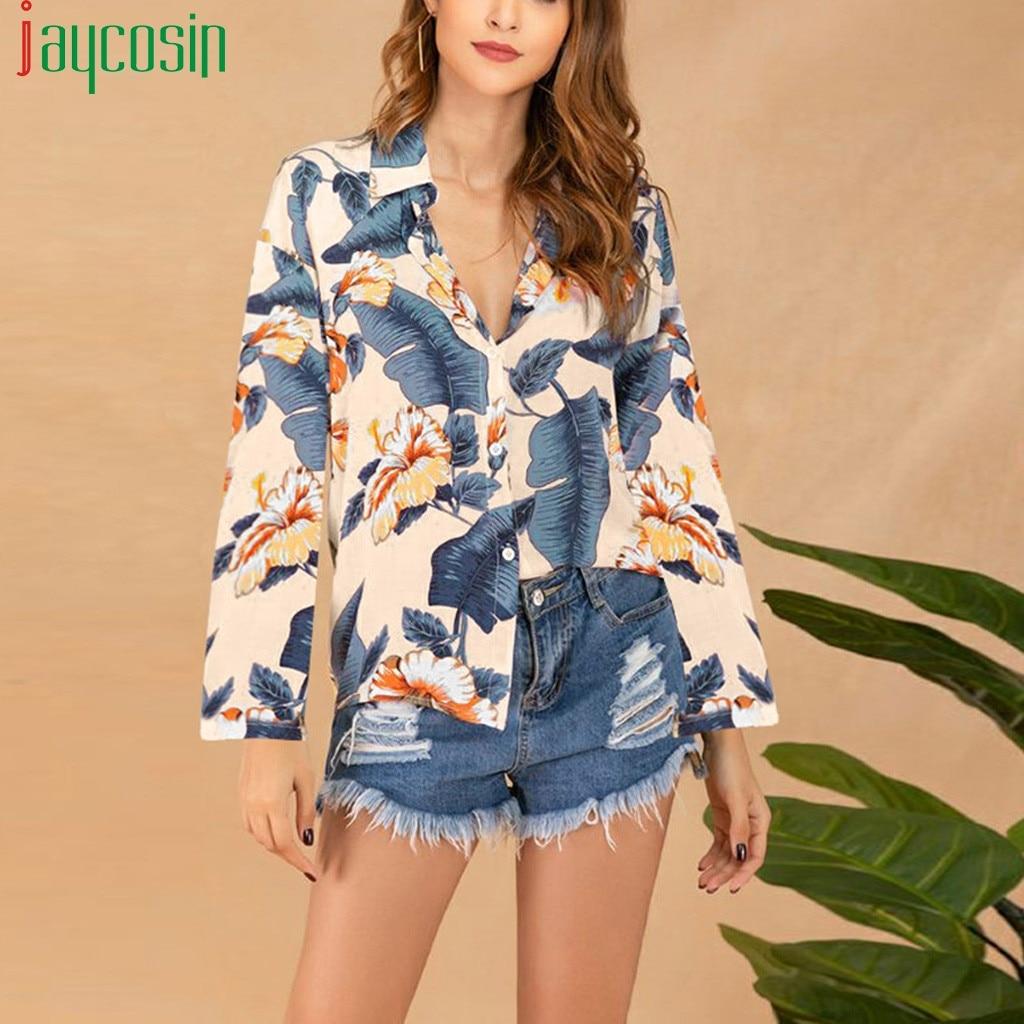 Women's Lapel Polka Dot Button Tops Casual Summer Blouse Beach T-shirt Plus Size
