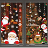 Xmas DIY 1set Christmas Window Sticker Pattern Noel Gifts Christmas Decorations for Home Ornaments Navidad Decor 2021 New Year