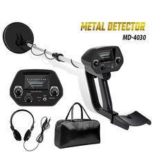 Detector de metais de ouro subterrâneo, detector de metais de longitude regulável caçador de tesouros requerente detector caçador portátil MD-4030