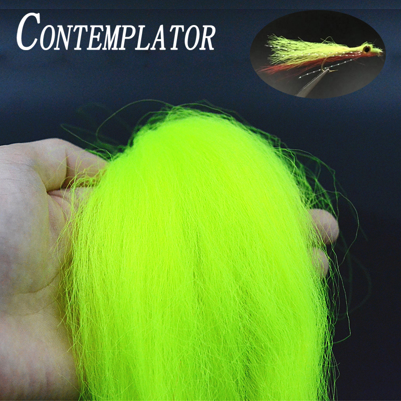 Contemplator 8optional Colors Streamers Fibers Durable Synthetic Fly Tying Materials 25cm Hard Fiber For Clousers/Deceivers