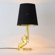 Nowoczesne lampy podłogowe z żywicy LED Battlegrounds M416 sypialnia salon dekoracji Nordic kryty światło podłogowe oświetlenie lampa stojąca