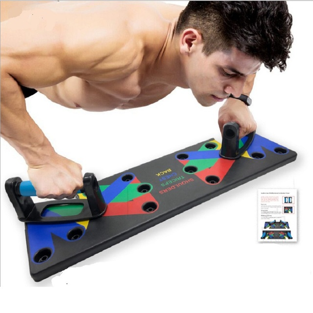9 in 1 Push Up Rack Board Men Women Training System Home Gym Fitness Equipment
