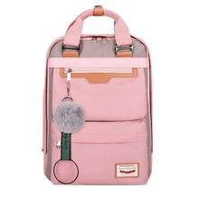 Classic Waterproof Nylon Women Backpack Large Capacity Multiple Zip Pocket Backpacks Travel Bag Teenage Girls Schoolbags letter print zip pocket backpack